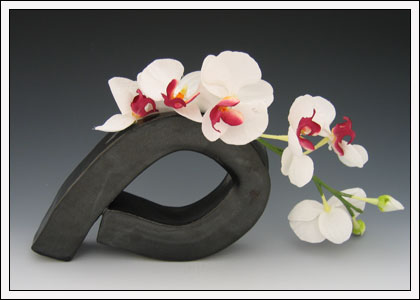 Vase Form with ORCHID